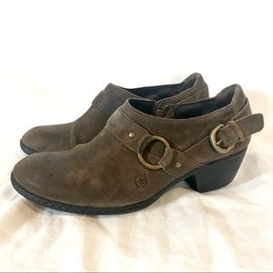 Born Zowy Harness Tobacco Suede Booties B68023 (9)